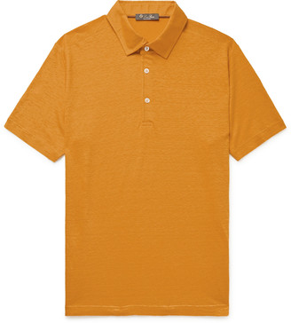 Loro Piana Linen-Jersey Polo Shirt - Men - Yellow