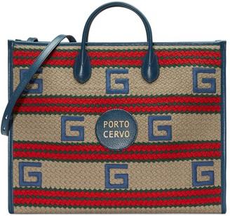 Gucci Cannes striped tote bag