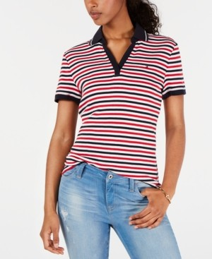 Tommy Hilfiger Striped Cotton Polo, Created for Macy's