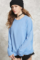 Forever 21 FOREVER 21+ High-Low Fleece Sweatshirt