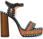 Lanvin studded platform sandals - women - Cotton/Leather/Bos Taurus - 38