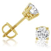 Amanda Rose Collection IGI Certified 1/2ct tw Round Diamond Stud Earrings in 14K Yellow Gold