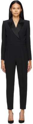 Alexander McQueen Black Tuxedo Tailored Jumpsuit