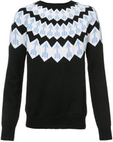 Givenchy arrow pattern jumper