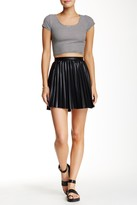 Romeo & Juliet Couture Pleated Faux Leather Skirt