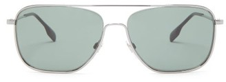 Burberry Aviator Metal Sunglasses - Silver