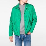 Paul Smith Men's Green Lightweight PS Logo Coach Jacket
