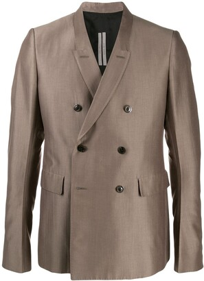 Rick Owens Long Sleeve Double Buttoned Blazer