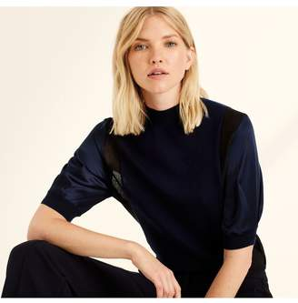 Amanda Wakeley Midnight Cashmere Lurex T-Shirt
