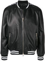 Balmain Leather Bomber Jacket