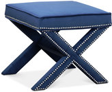 Ganet Nailhead Trim Ottoman Bench, Direct Ship