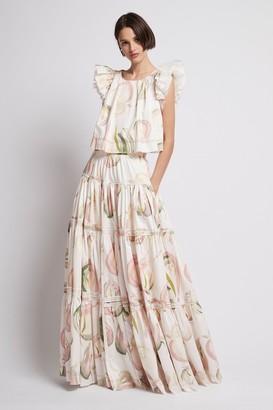 Aje Imprint Maxi Skirt