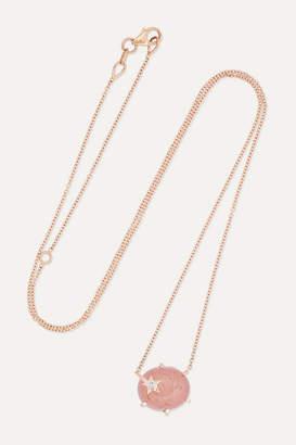Andrea Fohrman Mini Galaxy Star 18-karat Rose Gold, Quartz And Diamond Necklace - one size
