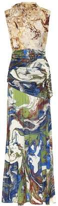 Jil Sander Printed silk dress