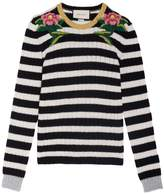 Gucci Embroidered Shoulder Knit Top