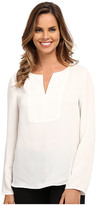 Adrianna Papell Tunic Top with Front Panel