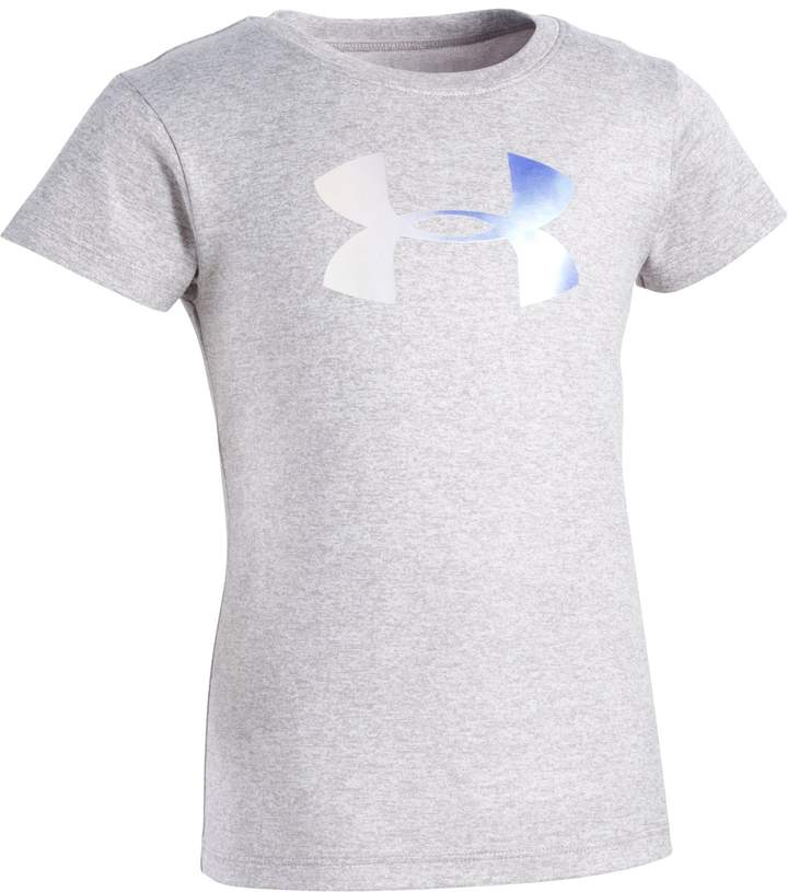 Under Armour Girls' Toddler UA Foil Big Logo Short Sleeve