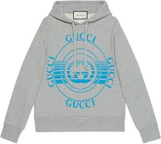 Gucci Disk printed hoodie