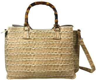 Un Billion UN Billion Bamboo Handle Crossbody with Gold Accents - Kelly