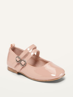 Old Navy Double-Strap Patent Leather Ballet Flats for Toddler Girls