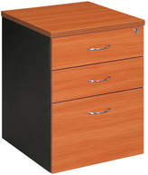 Mobile Pedestal with 2 Drawer / 1 File Filing Cabinet Colour: Cherry / Iron Grey