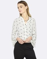 Oxford Hannah Feather Print Blouse