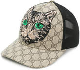 Gucci GG Supreme Mystic Cat baseball hat