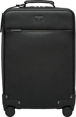 Prada Saffiano leather wheeled carry-on