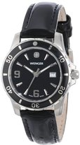 Wenger Women's 70365 Sport Black Dial Black Leather Watch