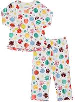 "Sara's Prints DANCING DOTS""-PRINT COTTON-BLEND PAJAMA SET"