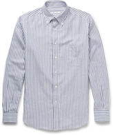 Loro Piana Alfred Striped Cotton and Linen-Blend Oxford Shirt