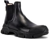 Gucci Leon Chelsea Boot in Black & Black | FWRD