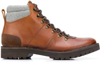 Eleventy Lace-Up Leather Boots
