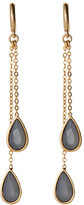 Vince Camuto Gold-Tone & Milky Grey-Tone Earrings