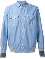Sacai chambray shirt - men - Cotton - 4