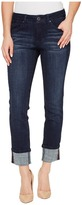 Jag Jeans Maddie Skinny Cuff Crosshatch Denim in Night Breeze Women's Jeans