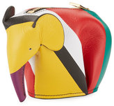 Loewe Colorblock Leather Elephant Coin Purse
