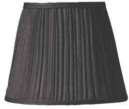 "Charlton Homeâ® Shirred Pleats 4"" Silk Empire Candelabra Shade Charlton HomeA Color: Black"