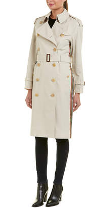 Burberry Trecastle Stripe Trench Coat