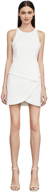 BCBGMAXAZRIA Ely Lace-Up-Back Halter Dress