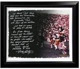 """Steiner Sports Notre Dame Fighting Irish Rudy Ruettiger Never Give Up Facsimile 22"""" x 26"""" Framed Stretched Story Canvas"""