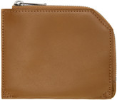Issey Miyake Brown Flat Zip Wallet