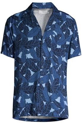 Onia Vacation Leaf-Print Shirt