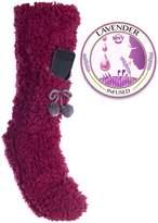 Minx Fuzzy Slipper Sock Phone Pocket Lavender Infused Lrg