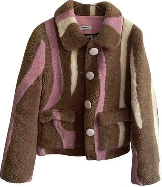 Saks Potts Brown Shearling Jacket for Women