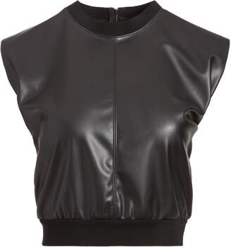 Alice + Olivia Kendrick Vegan Leather Top