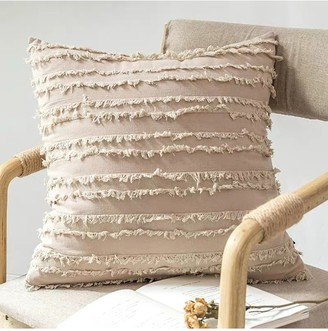 Goodnight Macaroon 'Carsa' Fringe Bohemian Cotton Cushion Cover (4 Colors)