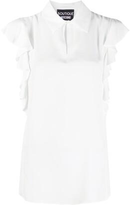 Boutique Moschino Ruffle Sleeveless Shirt