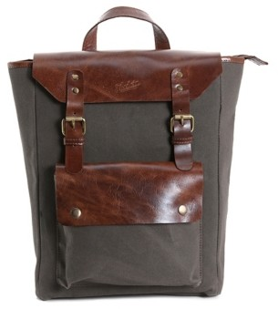 Florsheim Canvas & Leather Backpack