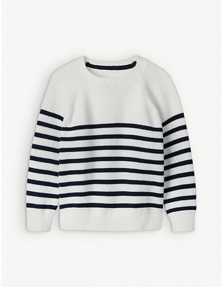 The Little White Company Breton striped cotton jumper 1-6 years
